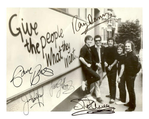 *KINKS* AUTOGRAPHED REPRINT PHOTO SIGNED X 5 *GIVE THE PEOPLE WHAT THEY WANT*