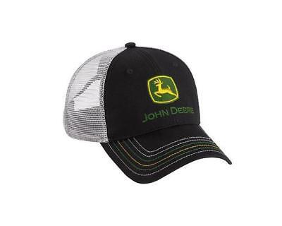 Men's John Deere Hat / Cap (Black w/ Gray Mesh) - LP67011