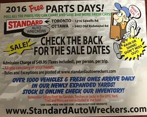Every Sat. Free Parts Day @ Standard Auto Wreckers $49.95 entry