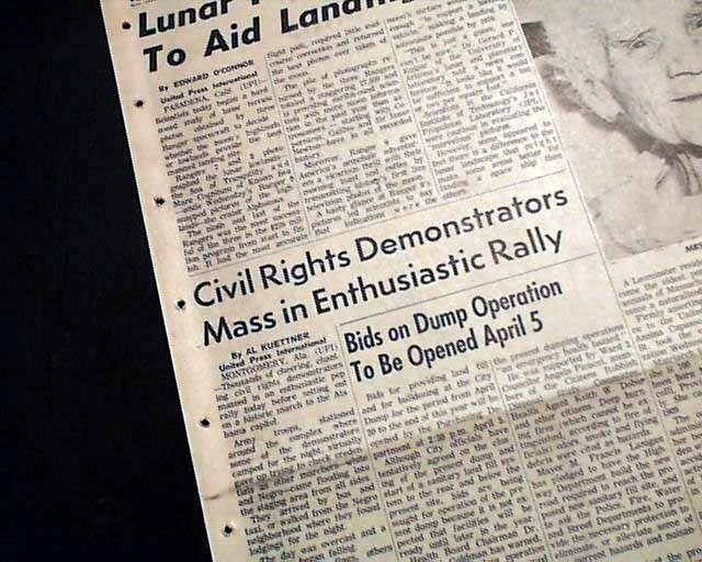 SELMA to MONTGOMERY AL Alabama w/ MLK King MARCH Ends Success 1965 Newspaper
