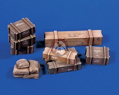 Verlinden 1/35 Military Supplies Sandbag Crates 3 types [Resin Diorama] 551