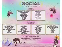 2x Weekend Camping tickets for The Social Festival, Kent. £90 each but will listen to offers!!