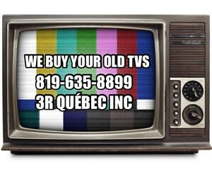We buy your old TVs and recycle all electronics