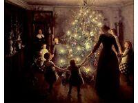Christmas Tree One Hundred Years Ago