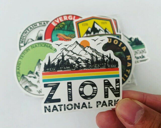 Home Decoration - 50 National Parks Outdoors Stickers Decals for Hydro flasks, Laptops