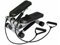 Mini step twist stepper + resistance bands stair climber home exercise workout UKFit Brand New