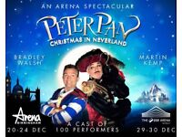 4 PETER PAN PANTOMIME TICKETS BRILLIANT SEATS BIRMINGHAM 22ND DEC £230 FOR 4 TICKETS