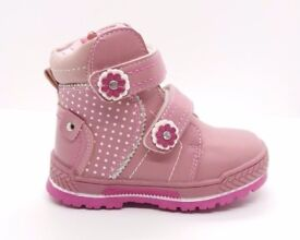 Baby Toddler Children Girl Winter Snow Boots Warm Fur Shoes UK size 5 to 9, EUR 22 to 27