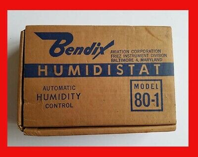 Vintage Bendix Humidistat Automatic Humidity Control Nib Model 80-1 Humidifier