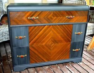 Unique Art Deco Waterfall Dresser Chalk Paint