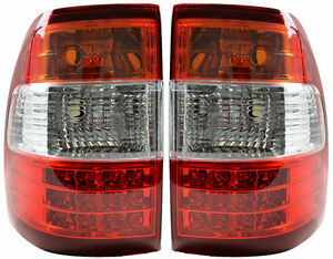 Pair of Tail Lights Toyota Landcruiser 05/05-07/07 New Rear Lamps 100 LED 06 07