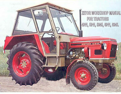 ZETOR Workshop Manual 4911, 5911, 5945, 6911, 6945 on CD na sprzedaż  Wysyłka do Poland