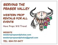 Western Props For Rent (Serving ALL Events) Fraser Valley BC