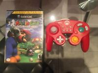 GAMECUBE MARIO GOLF TOADSTOOL TOUR - MANETTE-45$