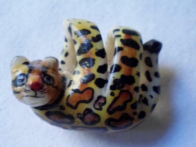 Wounaan hand Carved Jaguar Tagua Nut Pendant Carving-Panama 20121809mm