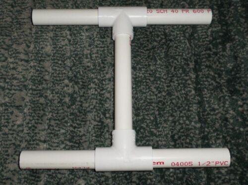 "White 8.5"" H X 9.5"" L PVC Niddy Noddy To Soak Yarn To Set Twist Craft Tool, NEW"