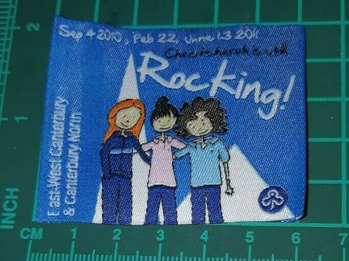 Christchurch is still Rocking 2010 to 2011 Girl Guide Badge