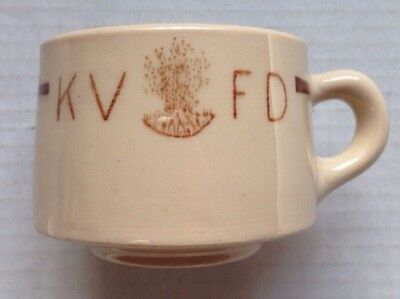 1950s KINGWOOD VOLUNTEER FIRE DEPARTMENT McNICOL RESTAURANT WARE COFFEE MUG, WV