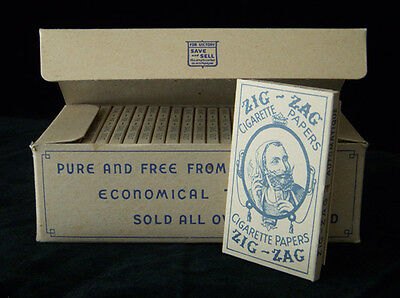 Zig-Zag Vintage Cigarette Rolling Papers WWII 1940's Pak Rare