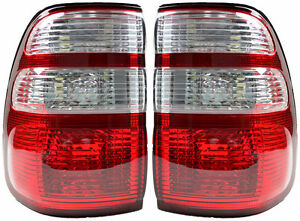 Pair of Tail Lights Toyota Landcruiser 09/02-04/05 New Rear Lamps 100 SERIES 03