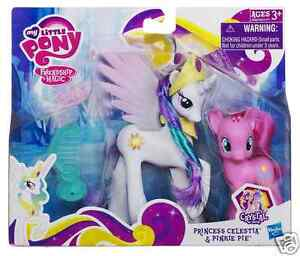 My Little Pony CRYSTAL EMPIRE PRINCESS CELESTIA & PINKIE PIE SET NEW in PACKAGE