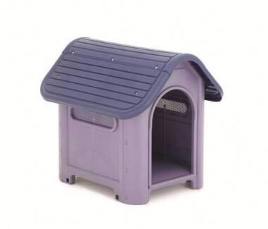 PLASTIC DOG PET PUPPY KENNEL HOUSE LOG CABIN INDOOR OUTDOOR Oakleigh Monash Area Preview