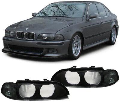 Streuscheiben Scheinwerfergläser Blinker schwarz für BMW 5er E39 95-00 online kaufen