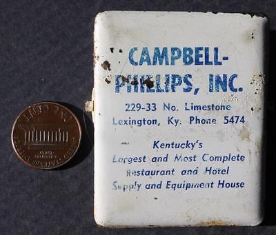 Party Supplies Lexington Ky (1950-60s Era Lexington,Kentucky Restaurant-Hotel Supply Company Metal Visor)