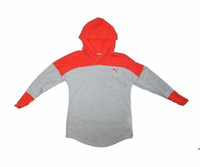 NWT Puma Ladies' Women's Hooded Pullover Hoodie Heather Coral Size XL
