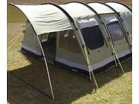 Outwell Bear Lake 6 Family Tent, Canopy, Footprint and Carpet in excellent condition