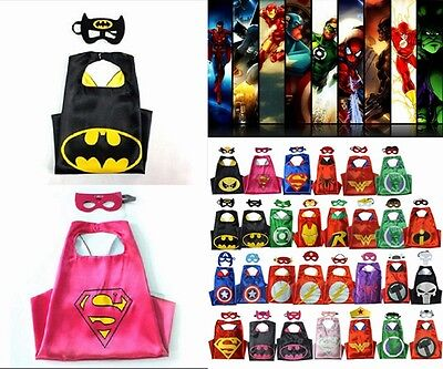 HOT Superhero Cape for kids birthday party favors and ideas (1 cape+1 mask) - Superhero Party Ideas