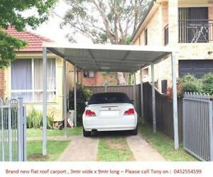Factory moving  Brand new Flat roof carport 3M wide X 9M long Canberra City North Canberra Preview