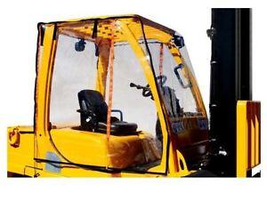 Atrium Full Forklift Cab Enclosure Cover Clear Vinyl - Fits up to 6,000 lb lifts