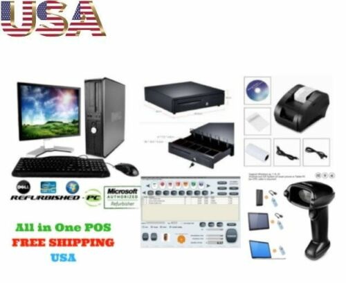 Low price Full POS all-in-one Point of Sale System Combo Kit Retail Store 17inch