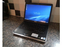 "SONY VGN-CR LAPTOP 14.1"", 2.20GHz(x2), 4GB, 160GB, WIFI, WEBCAM, DVD, NEW BATTERY, BLUETOOTH, OFFICE"