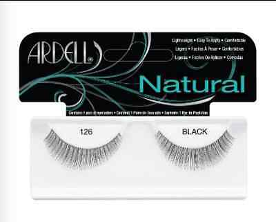(LOT OF 72) Ardell Natural Lashes #126 False Fake Eyelashes Strip Black Fashion