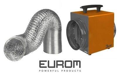 Heizlüfter & Warmluftschlauch 3KW Eurom Heat Duct Werkstattheizung Heizgebläse