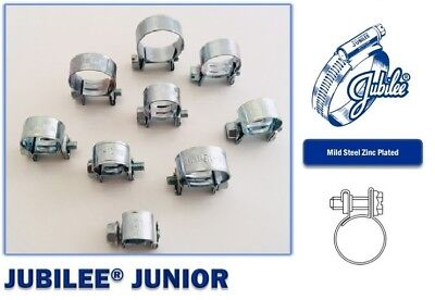 Jubilee Clip (Mini Fuel Line Jubilee Clip Hose Clamp Diesel Petrol Pipe Clamps Zinc Plated   )