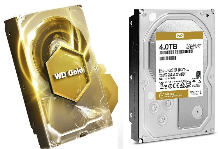 WD Gold 4TB Datacenter Hard Drive 7200 RPM SATA 6 Gb//s 128MB Cache WD4002FYYZ