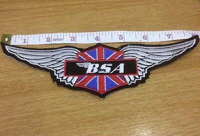 BSA  Motorcycle Wings BACK PATCH Badge Biker Ace Cafe Badge Rocker 59