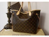 Lv bag and purse neverfull mm monogram bag brand new with dust bag