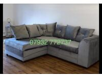 Plush velvet Corner sofa or 3+2 available all colours