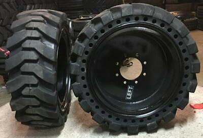 4- Tires With Wheels 33x12-20 12-16.5 Solid Skid-steer Loader Tire 331220