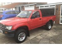 1992 Jreg Toyota hilux 2.2petrol red owned from new never had paint all as new cd towbar load liner
