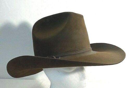 Resistol Western 4X XXXX Beaver Hat Hi Crown Size 7 1/8 Brown Classic Cowboy