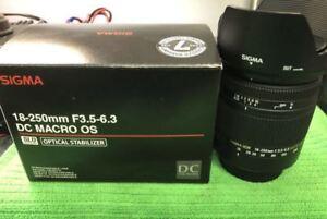 Sigma 18-250mm 3.5-6.3 Nikon Lens - Nikon AF-D - HS