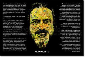 ALAN-WATTS-SIGNED-PHOTO-PRINT-2-ZEN-LSD-BUDDHISM-MEDITATION-AUTOGRAPH-POSTER