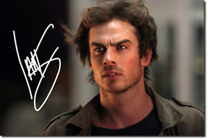 IAN-SOMERHALDER-SIGNED-PHOTO-PRINT-THE-VAMPIRE-DIARIES-AUTOGRAPH-POSTER