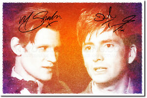 DAVID-TENNANT-AND-MATT-SMITH-SIGNED-PHOTO-PRINT-AUTOGRAPH-POSTER-GIFT