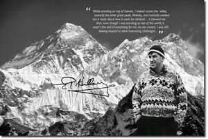 SIR-EDMUND-HILLARY-SIGNED-PHOTO-PRINT-MOUNT-EVEREST-AUTOGRAPH-POSTER-GIFT